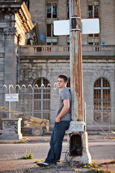 Detroit Urban Decay and Urban Blight Senior Portraits