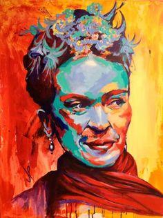Frida Kahlo Portrait Acrylic on Canvas 80x60 cm