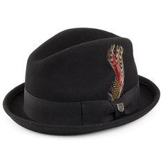 ec63bf0a05c Brixton Hats Gain Trilby Hat - Black
