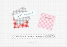 Photoshop: Make Your Own Staples at Pugly Pixel
