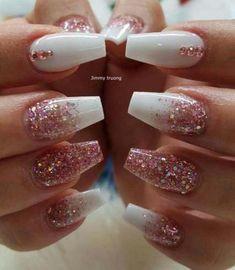 # Nails nails # nails # nails ideas # nails ideas - Valentinstag Nägel - Make Up Cute Acrylic Nails, Matte Nails, My Nails, Matte Pink, Matte Black, Best Nails, Pink White Nails, Black White Nails, Cute Pink Nails