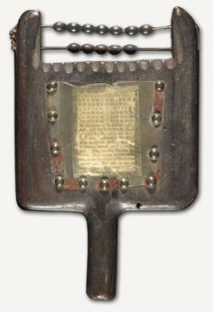 Hornbook with counting beads