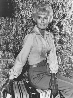 Barbara Stanwyck as Victoria Barkley in the television show Big Valley