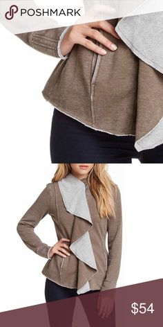 Hooded Cardigan extremely soft, hooded, fleece lined, drape front, jacket/cardigan, cotton/polyester blend, fits true to size  ⁉️I'm happy to answer all your questions, please ask them before you buy so I can make your purchase in my closet absolutely perfect. Jackets & Coats
