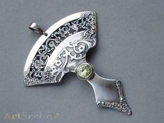 Lace'' - silver pendant