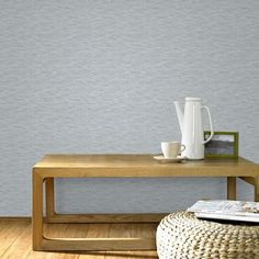Breeze Grey and Silver Wallpaper