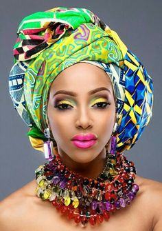 Stunning African head wrap! Love culture!