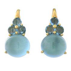New Pomellato Luna Gold Blue Topaz Earrings Baby Jewelry, Gems Jewelry, Stone Jewelry, Topaz Earrings, Pendant Earrings, Ring Earrings, Month Gemstones, Pomellato, Modern Jewelry