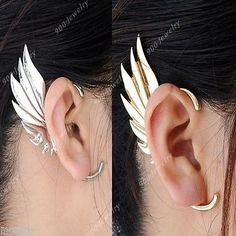 Gothic Rock Punk Temtation Metal Dragon Wing Snake Ear Cuff Wrap Clip Earring