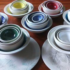 Coloured bowls Rustic Elegance, Bowls, Miniatures, Pottery, Tableware, Gifts, House, Mixing Bowls, Ceramica