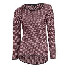 Damen Pullover mit Leder-Details