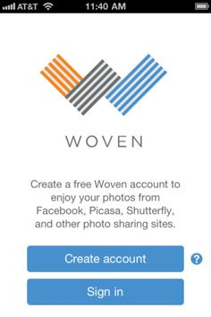 Enjoy all your treasured pictures together with Woven, a delightfully simple photo viewing app. Woven gathers your photos from online sharing services - Facebook, Flickr, Picasa, and many others - and brings them together on your iPhone or iPad for a fun viewing experience.