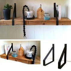 Wandplank met stalen dragers