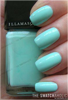 Illamasqua Nail Varnish in Nudge - Mint Green. This color is beautiful!!! #SephoraColorWash  #sephora  #colorwash