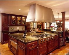 Tuscan style kitchen home interior design. *Remodel your kitchen at www.myprobiddirect.com/kitchens