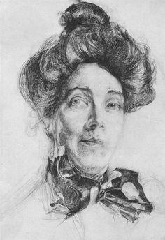 Мир Врубеля. Портрет артистки Забелы-Врубель. Жена художника Врубеля. 1905 г.