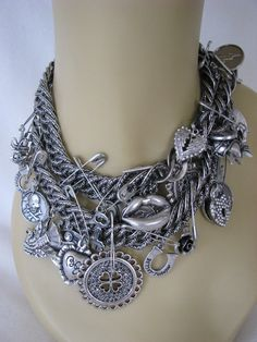 Wow! Very rare Betsey Johnson Black Label necklace is totally unique and oozing goth-style charm.  #jewellery $695