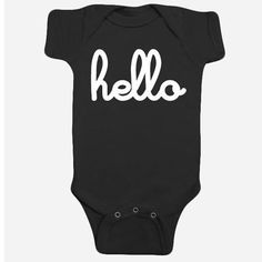 Hello Baby Onesie (Black) - Southwood stores