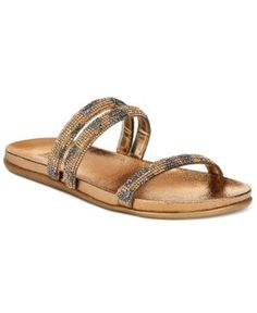 Kenneth Cole Reaction Slim Shotz Flat Sandals - Brown 9.5M