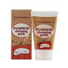 Pumpkin Sleeping Pack.  Was super disappointed this DID NOT smell like pumpkin one bit!  I've had pumpkin masks before at my local spa and they are lovely, and smell slightly like a fresh pumpkin pie.  This however, no pie in my face.  It was very moisturizing, so they should just call it something else so I'm not so sad when I use it.