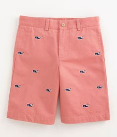 Whale Embroidered Club Shorts