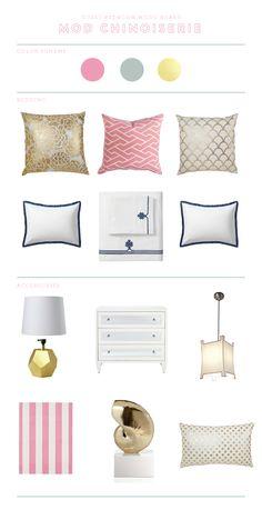 Pink City Maze and Gold Pillows