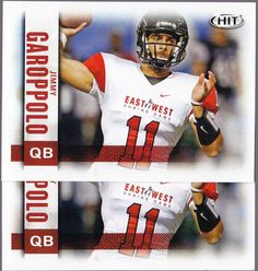 NEW ENGLAND PATRIOT LOT OF 2 SAGE HIT JIMMY GAROPPOLO REGULAR ISSUE ROOKIES