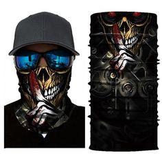 Skull Bike Night Bandana Shield B1061 I Can Change, Shoulder Sleeve, Zip Hoodie, Bandana, Skull, Bike, Unisex, Superhero, Hoodies