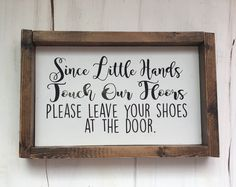 Please take off your shoes sign #rusticwoodsign #pleasetakeoffyourshoes #homedecor #woodsigns  https://www.etsy.com/shop/CraftyClosetsShop