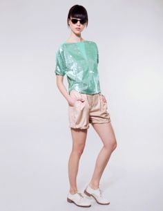 Pixie Market features the latest trendy tops for women, from cute shirts and tops to off the shoulder styles, lace up tops, and more. Shop new looks every week. Mint Coral, Trendy Tops For Women, Dance Photography, Sequin Top, Up Styles, Cute Shirts, Get The Look, Preppy, White Shorts