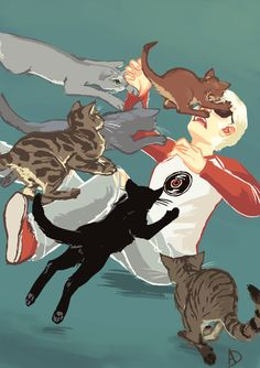 Davecats by Alimare. Dave Strider from Homestuck.