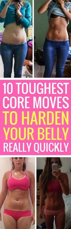 10 tough core exercises to flatten your belly quickly.