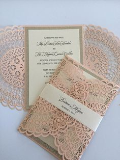 There are countless ready-made wedding invites to choose from; merely select a style, send out the information, and the printer can have it prepared within weeks. With such a wide choice, it may be hard to pick which one is finest. Doily Wedding, Bohemian Wedding Invitations, Laser Cut Wedding Invitations, Rustic Invitations, Printable Wedding Invitations, Wedding Invitation Design, Wedding Stationery, Wedding Cards, Invitation Wording