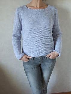 Tricolyne: Encore un p'tit pull mauve ! Knitting Stitches, Mauve, Knit Crochet, Gilets, Couture, Sweaters, Clothes, Fashion, Groomsmen