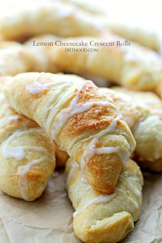 Lemon Cheesecake Crescent Rolls - Super easy and incredibly soft Crescent Rolls filled with a sweet and delicious lemon and cream cheese mixture.
