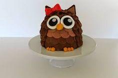 How to make an owl cake easy 3D buttercream cake Food recipes