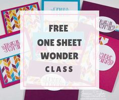 Need cards in a hurry? Make 16 cards in an hour using this One Sheet Wonder template and step-by-step tutorial.