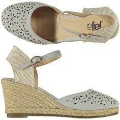 Espadrillas con zeppa colore Ice donna con lavorazione laser sulla tomaia - € 39,90 scontate del 13% le paghi solo € 34,90  | Nico.it - #nicoit #moda #fashion #ss15 #springsummer #spring #summer #fashionista #love #bestoftheday #me #outfit #lookoftheday #picoftheday #newcollection #newarrivals #cutout #shoes #boots #loveshoes #sandals #wedges