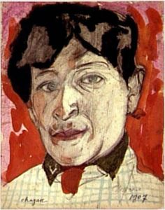 Marc Chagall Autoportrait, 1907. Paris, Centre Pompidou by renzodionigi, via Flickr