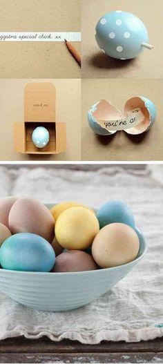 idée intéressante de déco de Pâques