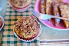 French Toast Muffins - One bite is literally like a forkful of French Toast!  Perfect for a brunch buffet.