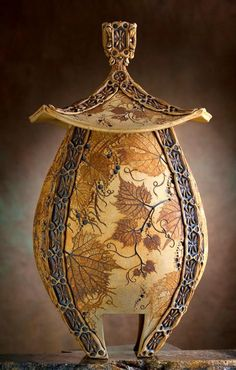 Dreamy pottery by Don McWhorter, among the best new New Orleans Jazz Fest crafts, second weekend...