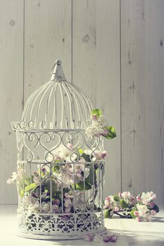 Birdcages make lovely centerpieces. ~ #wedding #Centerpiece