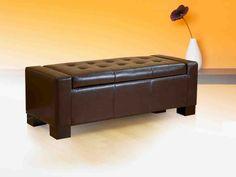 Leather Storage Ottoman BenchStorage Ottoman BenchPinterest