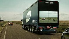 Samsung tested a truck that you can see through #MostRTed2015 http://cnb.cx/1RDh6M6