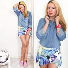 Denim Shirt http://www.eldiariodecandy.com/denim-shirt