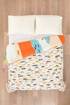 Char-Bea By Ashley G Brush Stroke Duvet Cover