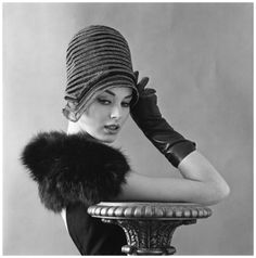 Model with hat. Photo by Hans Dukkers 1961