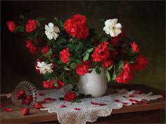 Букет розы клубника