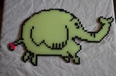 Tree Trunks made from Glow-in-the-dark perler beads.